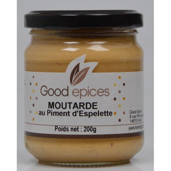 Good pices moutarde de dijon au piment d 39 espelette 200gr moutardes fines good pices - Graine de piment d espelette ...