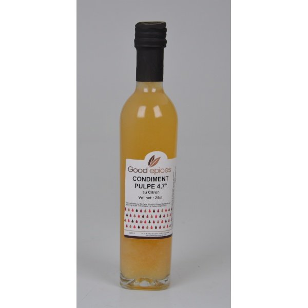 Good épices Vinaigre pulpe de citron 250ml