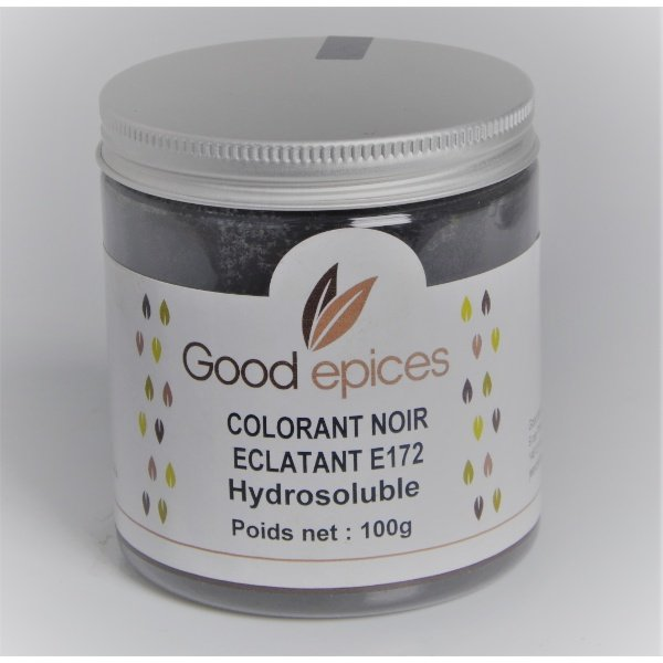 Good épices Colorant noir éclatant E172 Hydrosoluble 100gr