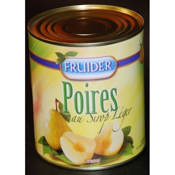 Fruider Poire Williams demi sirop leger boite 4/4